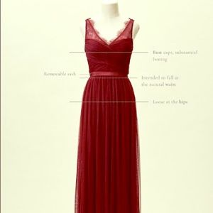 BHLDN Fleur dress in burgundy